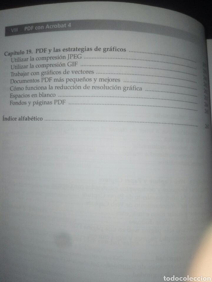 Libros de segunda mano: PDF con Adobe Acrobat 4 Prentice Hall Windows y Macintosh Ted Alspach - Foto 7 - 183857862