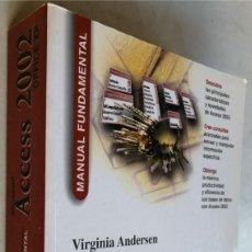 Libros de segunda mano: MICROSOFT ACCES 2002 - VIRGINIA ANDERSEN. Lote 184348352