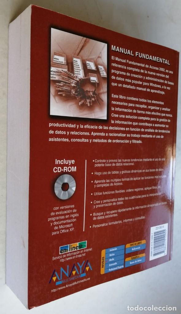 Libros de segunda mano: Microsoft Acces 2002 - Virginia Andersen - Foto 2 - 184348352