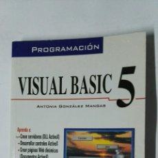 Libros de segunda mano: VISUAL BASIC 5 PROGRAMACIÓN. Lote 184896653