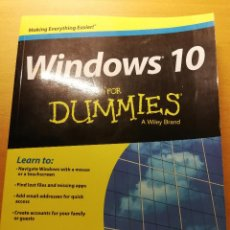 Libros de segunda mano: WINDOWS 10 FOR DUMMIES (ANDY RATHBONE). Lote 186108617