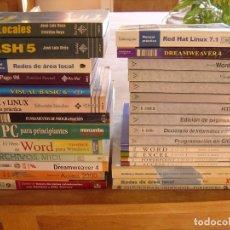 Libros de segunda mano: LOTE: LIBROS DE INFORMÁTICA. BIEN CONSERVADOS.. Lote 186316977