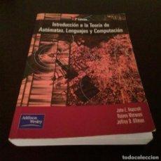 Libros de segunda mano: LIBRO TEORIA DE AUTOMATAS (HOPCROFT, 2ª ED.). Lote 186463753