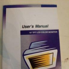 Libros de segunda mano: MANUAL TFT LCD COLOR MONITOR 15 PULGADAS KOREA. Lote 186670855