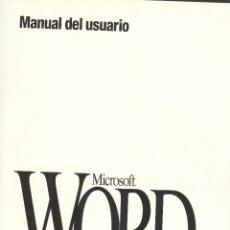 Libros de segunda mano: MANUAL DE USUARIO MICROSOFT WORD. Lote 187514161