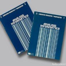 Libros de segunda mano: CURSO DE PROGRAMACION DE ORDENADORES EJERCICIOS DE ANALISIS INFORMATICO ECC 2 CUADERNOS. Lote 189585528