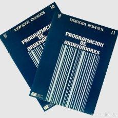 Libros de segunda mano: CURSO DE PROGRAMACION DE ORDENADORES EJERCICIOS RESUELTOS DE LENGUAJE-C ECC 2 CUADERNOS. Lote 190240576