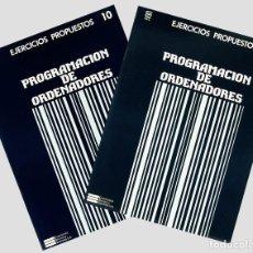 Libros de segunda mano: CURSO DE PROGRAMACION DE ORDENADORES EJERCICIOS PROPUESTOS DE LENGUAJE-C ECC 2 CUADERNOS. Lote 190340383