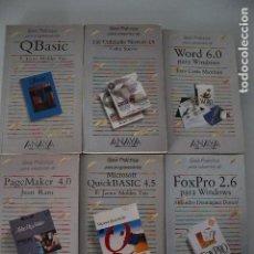 Libros de segunda mano: 6 LIBROS DE INFORMÁTICA ANAYA. Lote 191474386