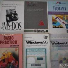 Libros de segunda mano: 6 LIBROS DE INFORMATICA. Lote 191474407