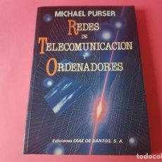 Libros de segunda mano: REDES DE TELECOMUNICACION Y ORDENADORES, MICHAEL PURSER1985. Lote 193941352