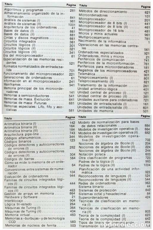 Libros de segunda mano: INFORMÁTICA - 4 TOMOS COMPLETA - NUEVA LENTE 1983 - 1048 PÁGINAS - VER ÍNDICES - Foto 3 - 194154013
