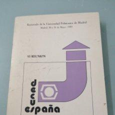 Libros de segunda mano: VI REUNIÓN DECUS ESPAÑA. MAYO, 1985. RECTORADO DE LA UNIVERSIDAD POLITÉCNICA DE MADRID.. Lote 194405891