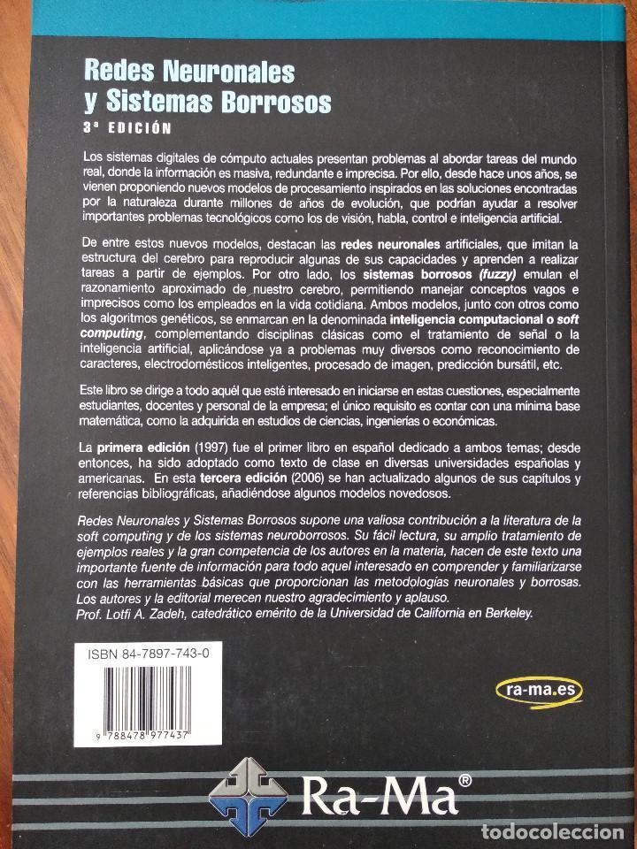 Libros de segunda mano: Redes neuronales y sistemas borrosos. 3ª Edición. Bonifacio Martín del Brío y Alfredo Sanz Molina - Foto 2 - 194496295