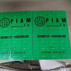 Libros de segunda mano: CURSO BÁSICO DE INFORMÁTICA - PROGRAMACIÓN. PIAM S.A.. DOS TOMOS. 1973. Lote 194774605