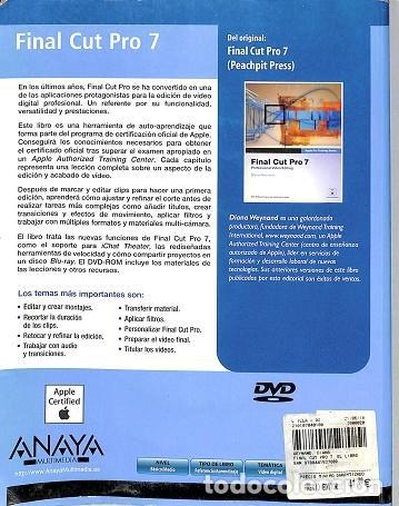 Libros de segunda mano: Final Cut Pro 7. Contiene Dvd - Diana Weynand - Anaya - Medios Digitales Y Creatividad - Foto 2 - 194848767