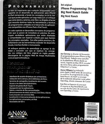 Libros de segunda mano: Desarrollo De Aplicaciones Para Iphone & Ipad. Programacion - Aaron / Conway Hillegass - Anaya - Pro - Foto 2 - 194849993