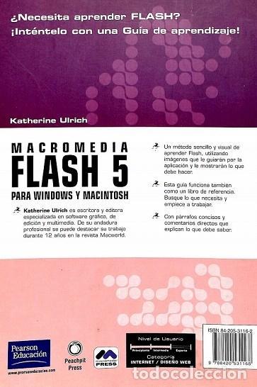Libros de segunda mano: Guía De Aprendizaje Macromedia Flash 5 - Katherina Ulrich - Pearson Alhambra - Guia Aprendizaje - Foto 2 - 194850598