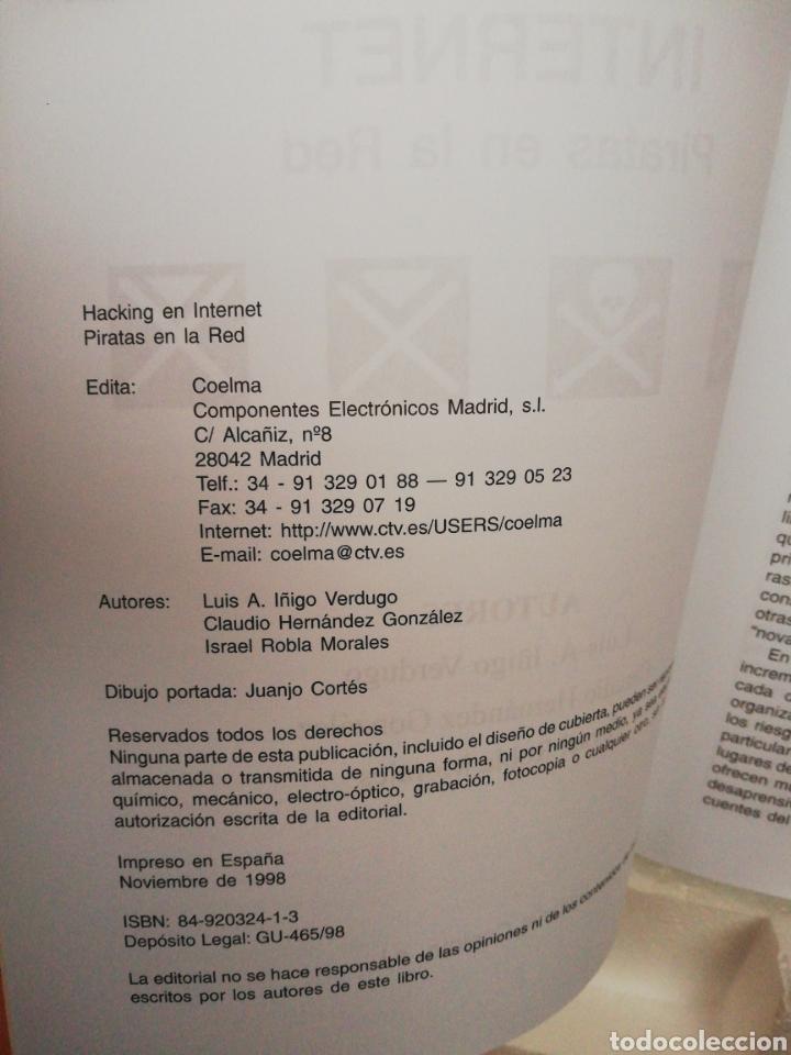 Libros de segunda mano: Hacking en Internet ,piratas en la red ,Luis A Íñigo ,Israel Robla - Foto 3 - 194877788