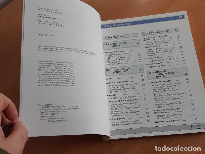 Libros de segunda mano: Libro. Guias Audiovisuales. Internet (Anaya, 1998) - Foto 5 - 194956647