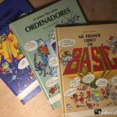 Livros em segunda mão: LOTE 3 LIBROS: MI PRIMER LIBRO DE BASIC. SOBRE ORDENADORES Y PRIMER DICCIONARIO INFORMÁTICA. 1984-85. Lote 194958766