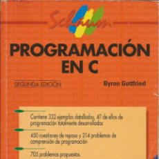 Libros de segunda mano: PROGRAMACIÓN EN C. BYRON GOTTFRIED. SERIE SCHAUM. SEGUNDA EDICIÓN. . Lote 195057677
