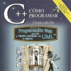Libros de segunda mano: COMO PROGRMAR C++. PROGRAMACIÓN WEB Y DISEÑO ORIENTADO A OBJETOS. CON CD ROM. DEITEL-DEITEL. . Lote 195057851