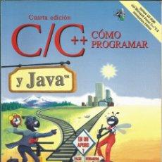 Libros de segunda mano: COMO PROGRMAR EN C/C++ Y JAVA. DEITEL. 4A. EDICIÓN. . Lote 195058023