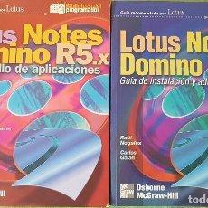 Libros de segunda mano: 2 LIBROS LOTUS NOTES DOMINÓ R5X. Lote 195195633