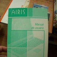 Libros de segunda mano: MANUAL DE USUARIO, AIRIS. L.11029-703. Lote 195279191