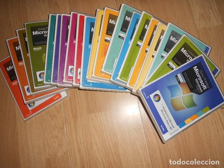 Libros de segunda mano: CURSO PRACTICO MICROSOFT WINDOWS para vista y xp - COLECCION COMPLETA 20 PC CD-ROM - Foto 2 - 195321430