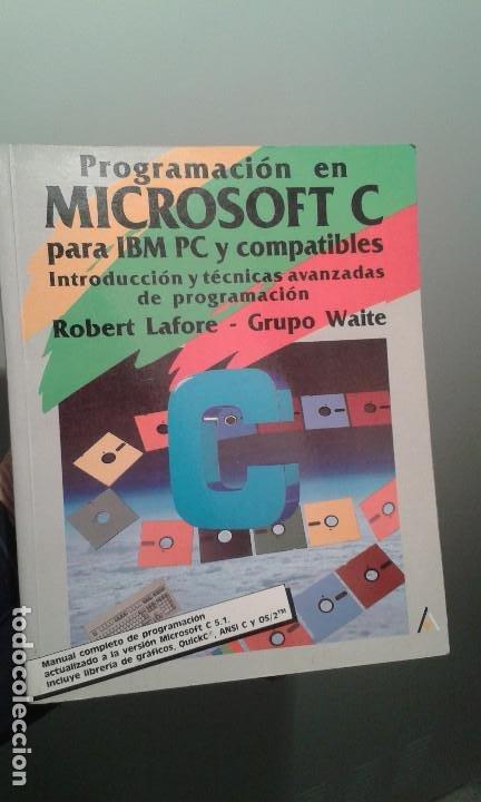 PROGRAMACION EN MICROSOFT C - ANAYA MULTIMEDIA 1990 (Libros de Segunda Mano - Informática)