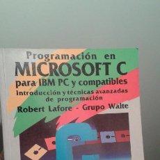 Libros de segunda mano: PROGRAMACION EN MICROSOFT C - ANAYA MULTIMEDIA 1990. Lote 195345203