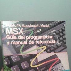 Libros de segunda mano: MSX GUIA DEL PROGRAMADOR 1985. Lote 195345241