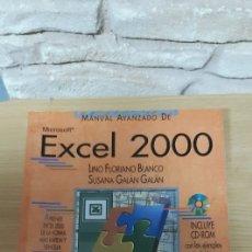 Libros de segunda mano: MANUAL AVANZADO MICROSOFT EXCEL 2000 - LINO FLORIANO BLANCO, SUSANA GALAN GALAN - ANAYA. Lote 195925455