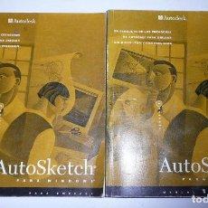 Libros de segunda mano: AUTOSKETCH PARA WINDOWS. MANUAL DE USUARIO, PARA EMPEZAR. AUTODESK (2 TOMOS) (1994). Lote 197137306