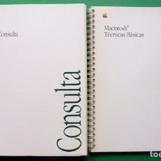 Libri di seconda mano: MACINTOSH: MANUAL DE CONSULTA + TÉCNICAS BÁSICAS - 1989 - NUEVO. Lote 198741596