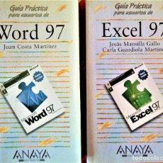 Libros de segunda mano: WORD 97 Y EXCEL 97 - GUIAS PRACTICAS (ANAYA MULTIMEDIA). Lote 189293252