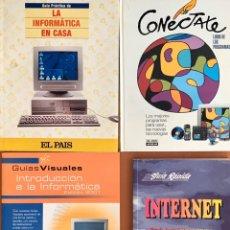 Libros de segunda mano: LOTE 4 LIBROS INFORMATICA - CONECTATE, INFORMATICA EN CASA, GUIAS VISUALES, GUIA RAPIDA INTERNET. Lote 202670138