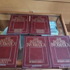 Libros de segunda mano: GRAN ENCICLOPEDIA INFORMÁTICA (5 TOMOS). Lote 203205705