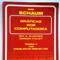 Libros de segunda mano: GRÁFICAS POR COMPUTADORA POR PLASTOCK Y KALLEY DE ED. MCGRAW HILL SCHAUM EN MÉXICO 1987. Lote 205037368