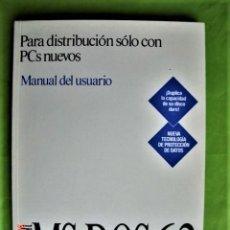 Libros de segunda mano: MANUAL DEL USUARIO MICROSOFT MS-DOS 6.2. AÑO 1993. Lote 206492511