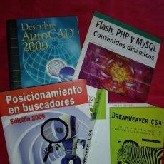 Libros de segunda mano: LOTE 4 LIBROS INFORMÁTICA. Lote 207315402