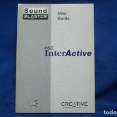 Libros de segunda mano: SOUND BLASTER HSC INTERACTIVE - USER GUIDE. Lote 207559846