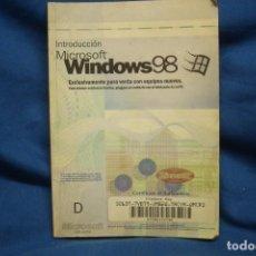 Libros de segunda mano: INTRODUCCIÓN MICROSOFT WINDOWS 98. Lote 208688770