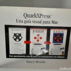 Libros de segunda mano: QUARKXPRESS, UNA GUIA VISUAL PARA MAC, NANCY J. MCCARTHY, INFORMATICA / COMPUTERING, GUSTAVO GILI. Lote 208853066