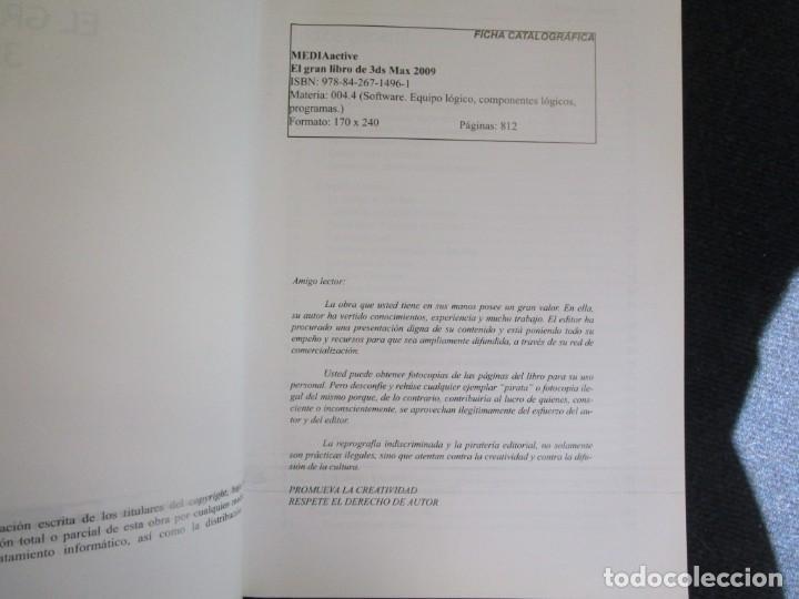 Libros de segunda mano: EL GRAN LIBRO DE 3D STUDIO MAX 2009 + CD ROM - MEDEIA ACTIVE 2009 MARCOMBO 812PAG 24CMM ILUSTRADO + - Foto 2 - 208867865