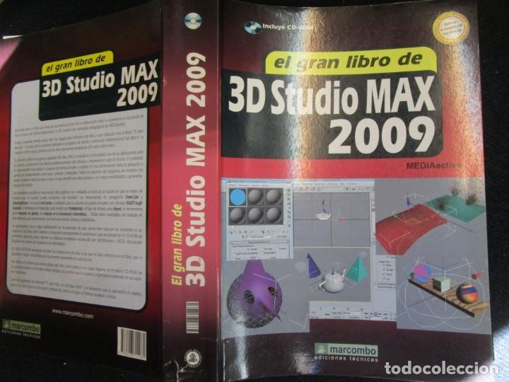 EL GRAN LIBRO DE 3D STUDIO MAX 2009 + CD ROM - MEDEIA ACTIVE 2009 MARCOMBO 812PAG 24CMM ILUSTRADO + (Libros de Segunda Mano - Informática)