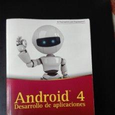 Libros de segunda mano: -ANDROID 4- DESARROLLÓ DE APLICACIONES- ANAYA - WEI MENG LEE -580 PAG- 2012. Lote 209886472