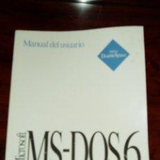 Libros de segunda mano: LIBRO MANUAL DE USUARIO MICROSOFT MS DOS 6. Lote 210146596